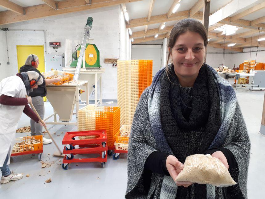 « Transformé en chapelure, le pain devient un complément à l'alimentation animale, plus digeste que le blé ou le maïs », explique Julie Boulinguez