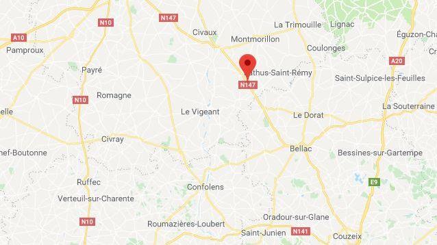 La RN147 entre Poitiers et Limoges