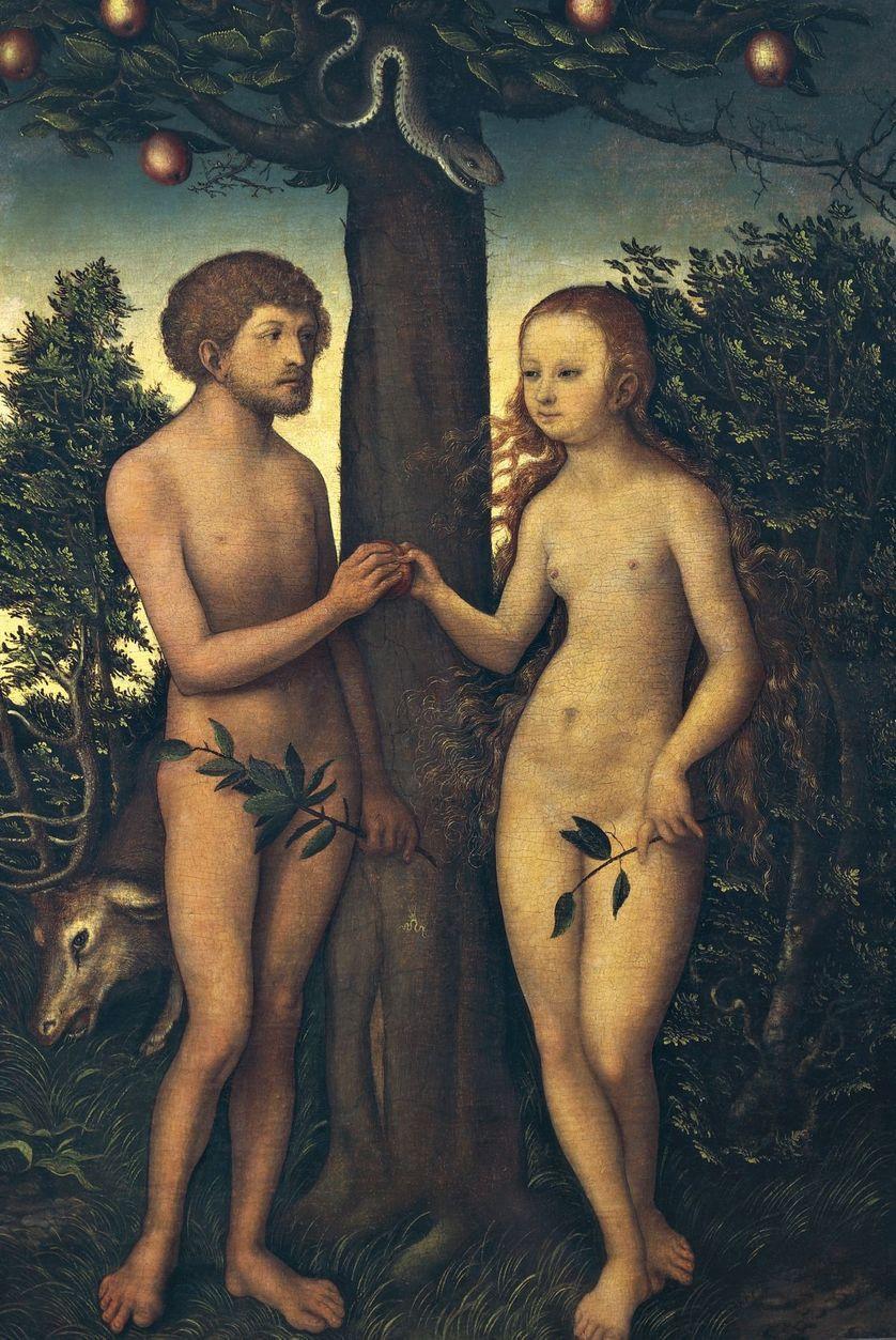 Adam et Eve par Lucas Cranach (1472-1553)