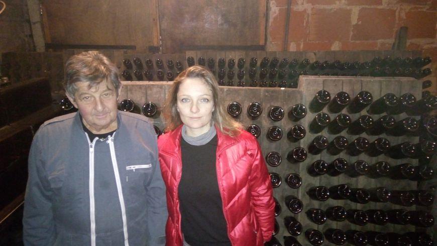 Noël Martin et sa fille Aurélie, qui reprend l'exploitation.