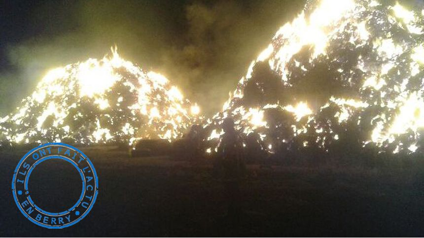 Les paillers en feu en août dernier à Brion.