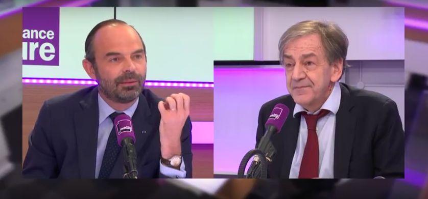Edouard Philippe et Alain Finkielkraut.