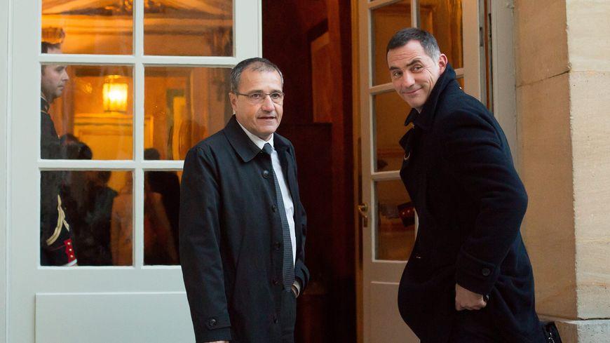 Gilles Simeoni et Jean-Guy Talamoni à Matignon le 18/01/2016
