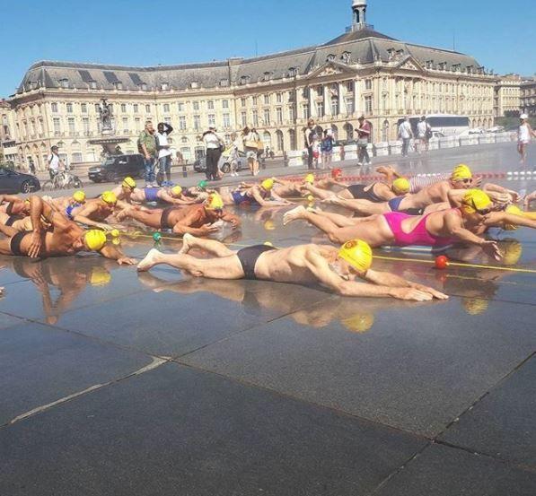 Séance improvisée pour les nageurs du BEC.
