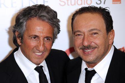 Richard Anconina et Patrick Timsit en 2012 pour la promotion de Stars 80