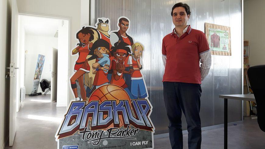 Aymeric Castaing, de la société I can Fly, a notamment produit une série animée autour de Tony Parker.