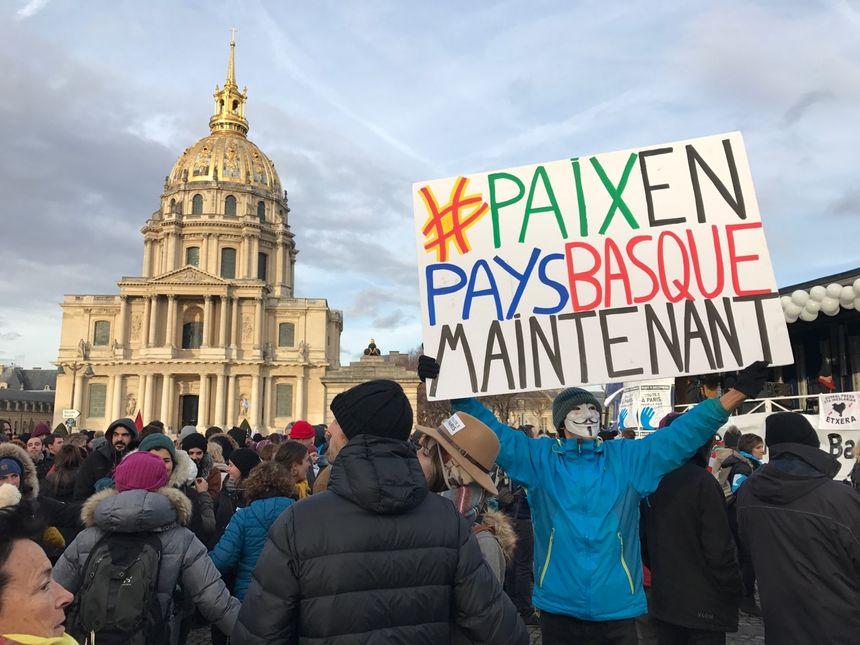 Manifestation des artisans de la paix à Paris le 9 décembre 2017