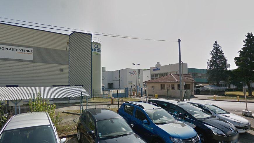 L'entrée du site Yoplait / Candia, à Vienne (image GoogleMaps).