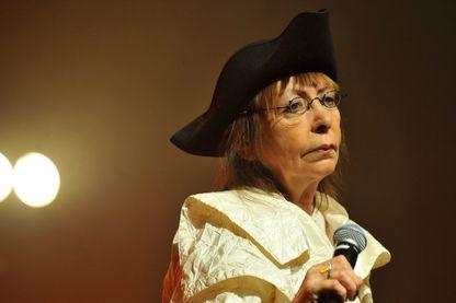 Brigitte Fontaine en concert pour la clôture du festival Roubaix à l'Accordéon à Lille le 23 octobre 2012.