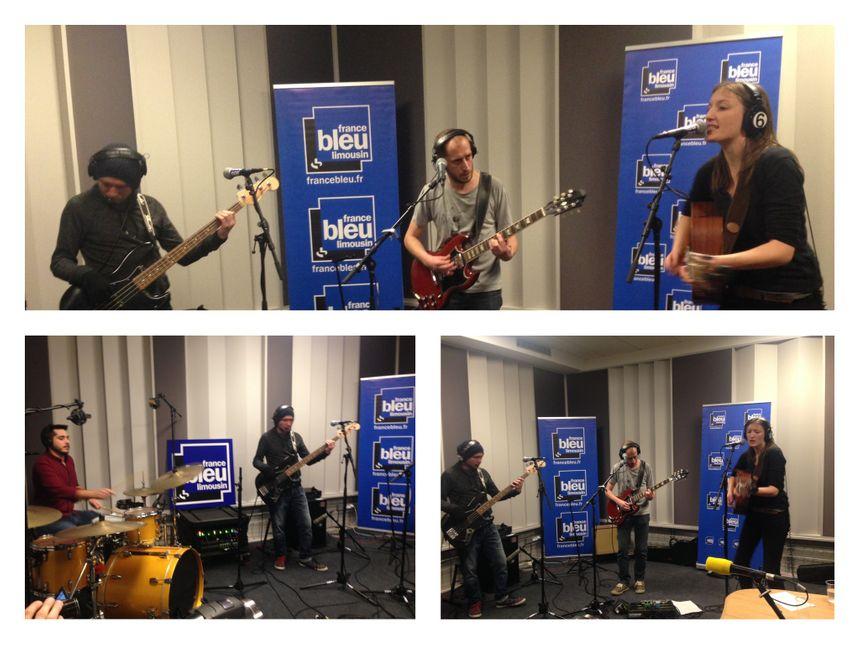 Lise Dellac, Anthony Picard à la guitare Sylvain Brousse à la basse et Tom Marchand à la batterie