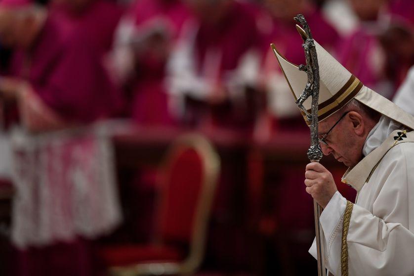 Le pape François lors de la messe de minuit de ce 24 décembre 2017