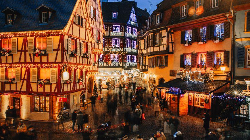 Image De Noel En Alsace.Les Marches De Noel Fierte De L Alsace En Hiver