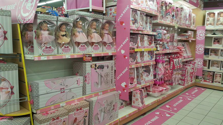 Un rayon 100% rose dans ce magasin de jouets d'Essey-lès-Nancy