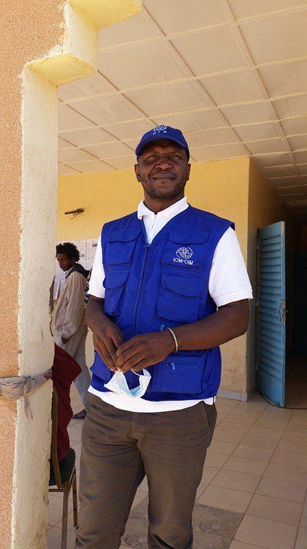 Lincoln Gaingar, le responsable du centre de transit de l'OIM à Agadez.
