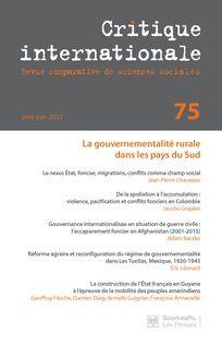Critique internationale n°75