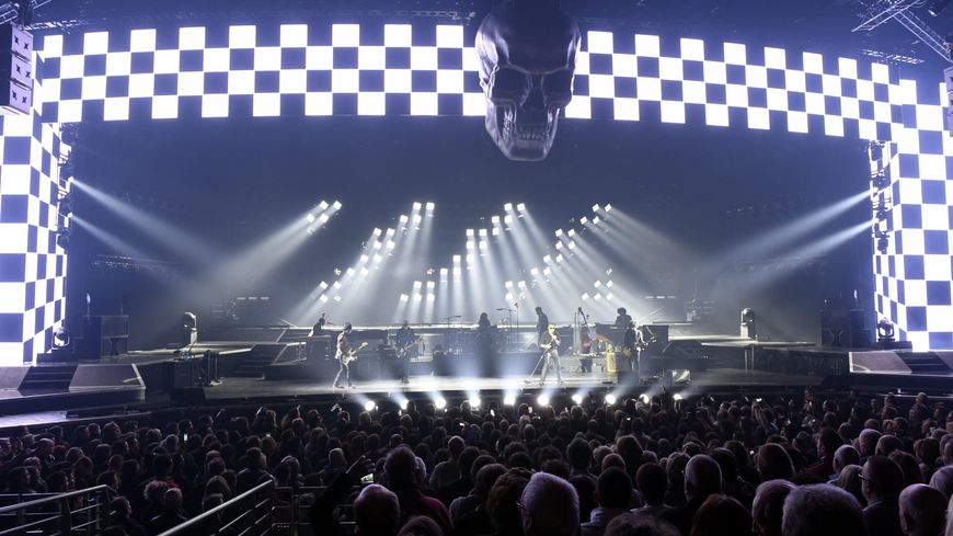 Johnny Hallyday, sur la scène du Zénith de Nancy le 27 février 2016
