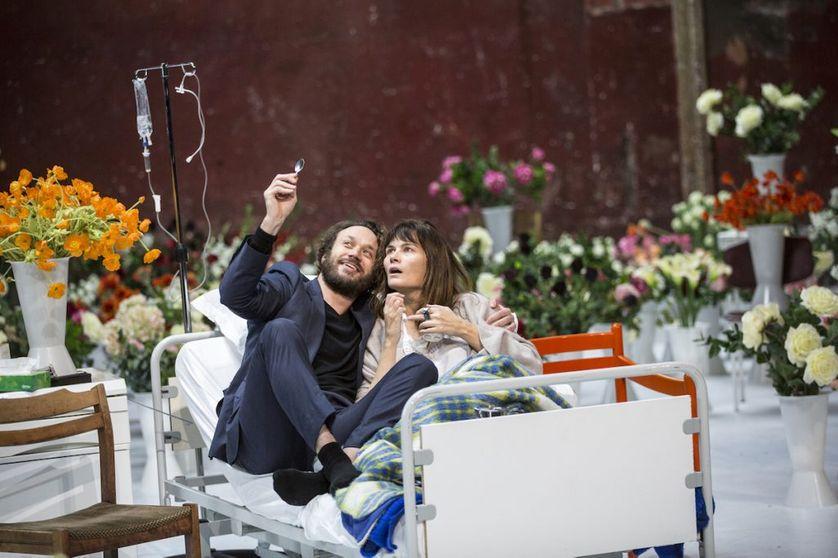Marina Hands et Elmer Bäck dans Actrice - Pascal Rambert - 2017