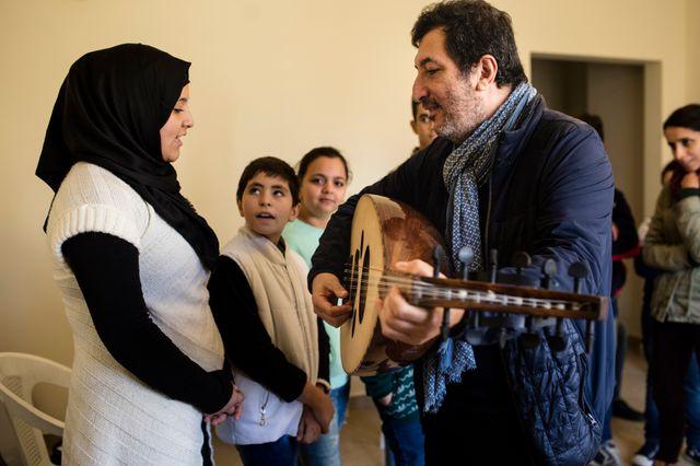 Fawaz Baker et l'une de ses élèves