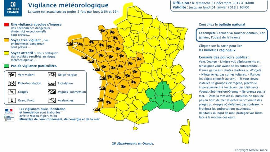 La Creuse, la Corrèze et la Haute-Vienne sont placés en vigilance orange pour vents violents ce lundi