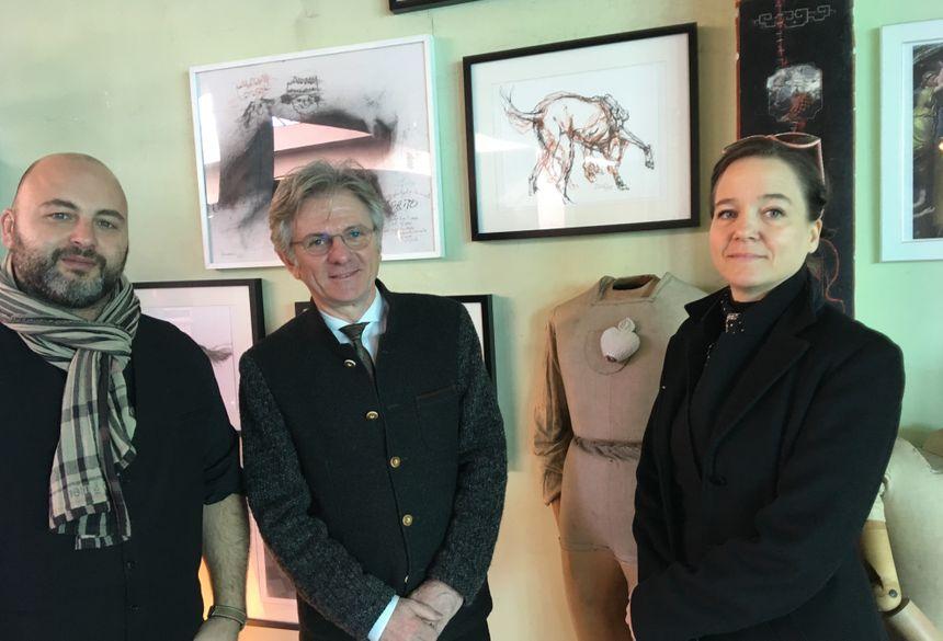 De gauche à droite : Stéphane De Santo, Paul Giudicelli et Juli About