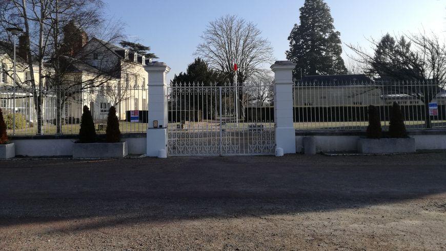 L'entrée du centre de Pontourny à Beaumont-en-Véron