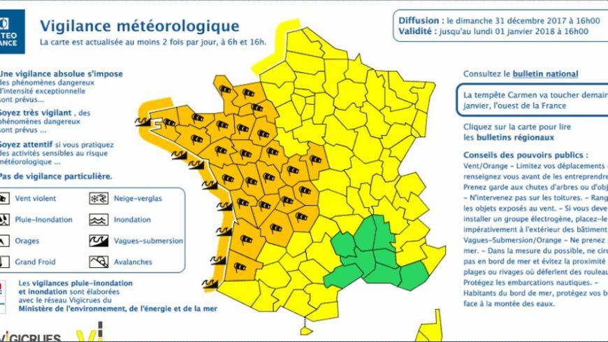 Carte de Météo France