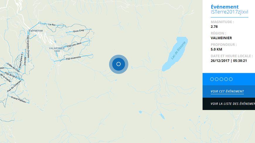 Le réseau Sismalp a enregistré la secousse à 5h39