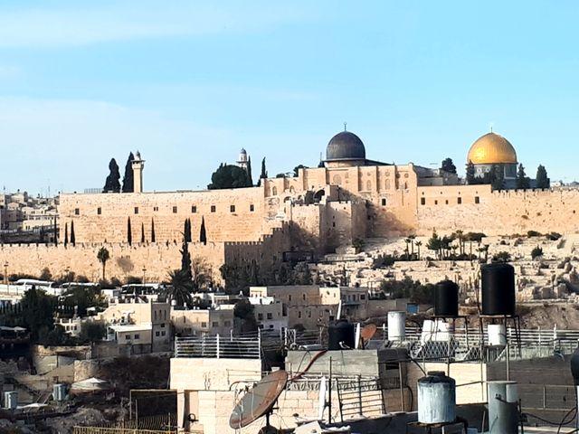 La vue de Jérusalem depuis le quartier de Silwan