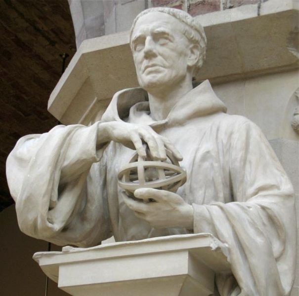 Statue de Roger Bacon (Oxford University Museum of Natural History)