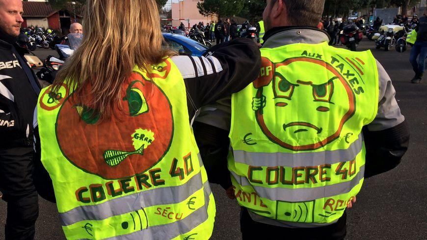 La manifestation Colère40 a rassemblé entre 350 et 400 motards et automobilistes à Dax.