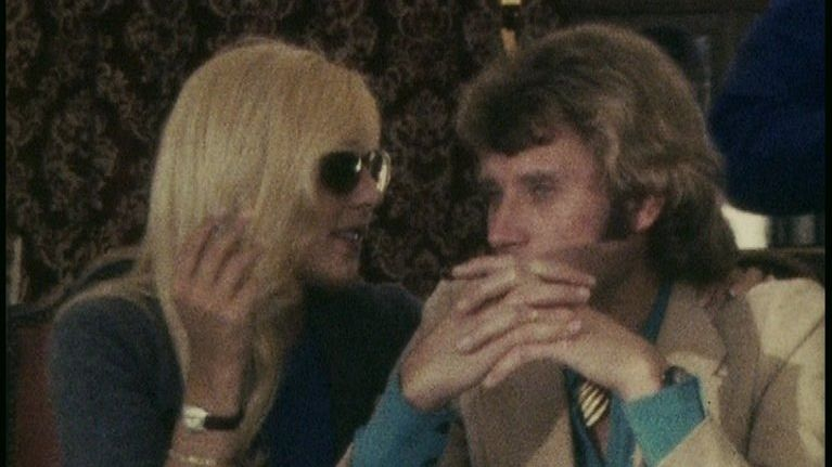 Sylvie Vartan et Johnny Hallyday - avril 1970 - Amboise