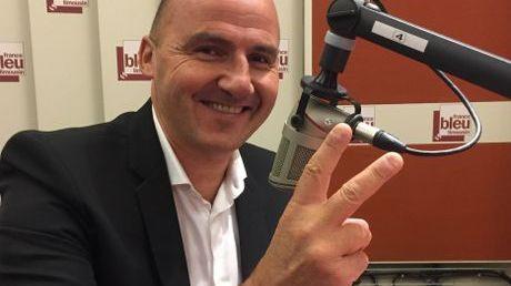 Frédéric Forte dans les locaux de France Bleu Limousin en septembre 2017