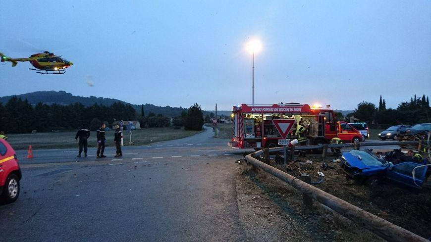 Violent accident de la route au Puy-Sainte-Réparade