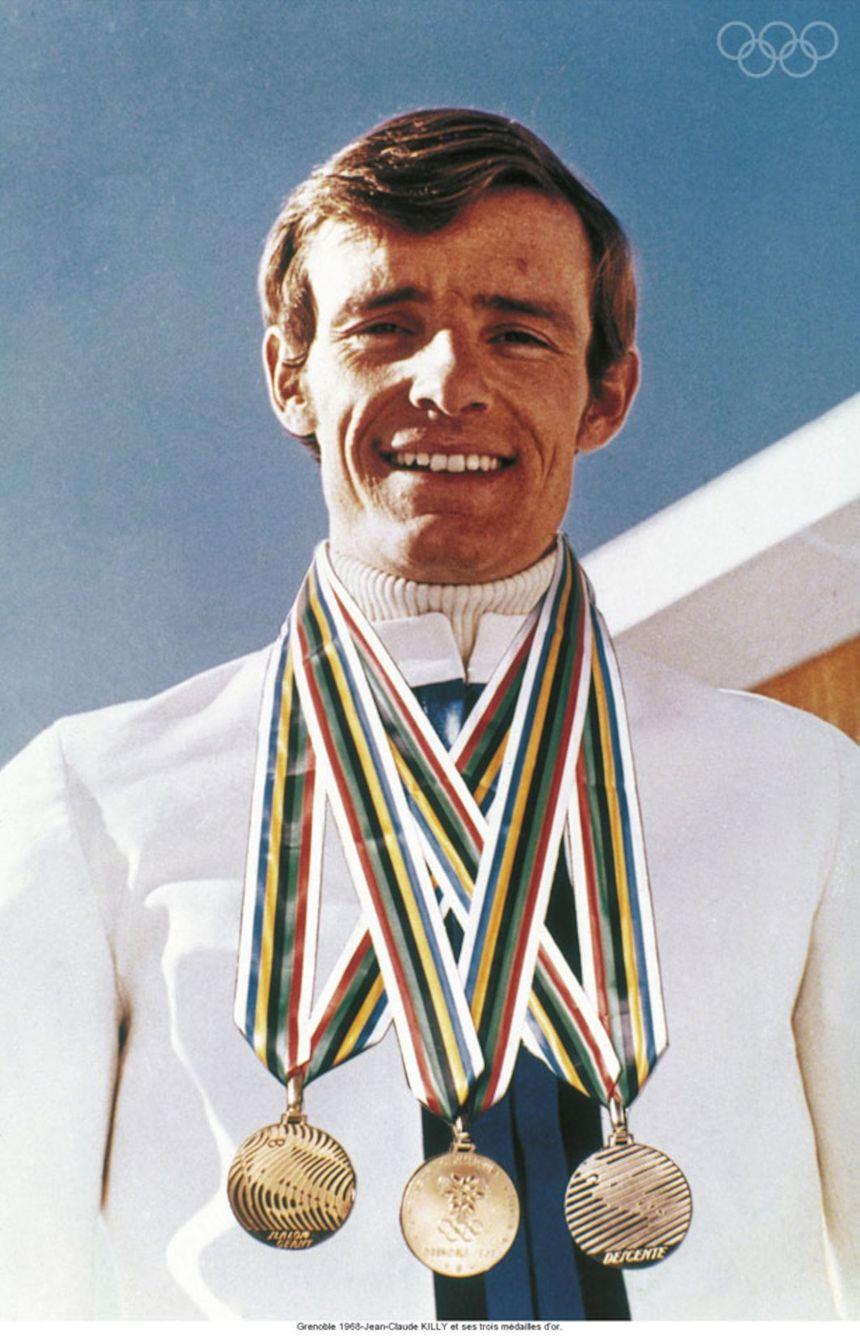 Jean-Claude Killy et ses trois médailles d'or !