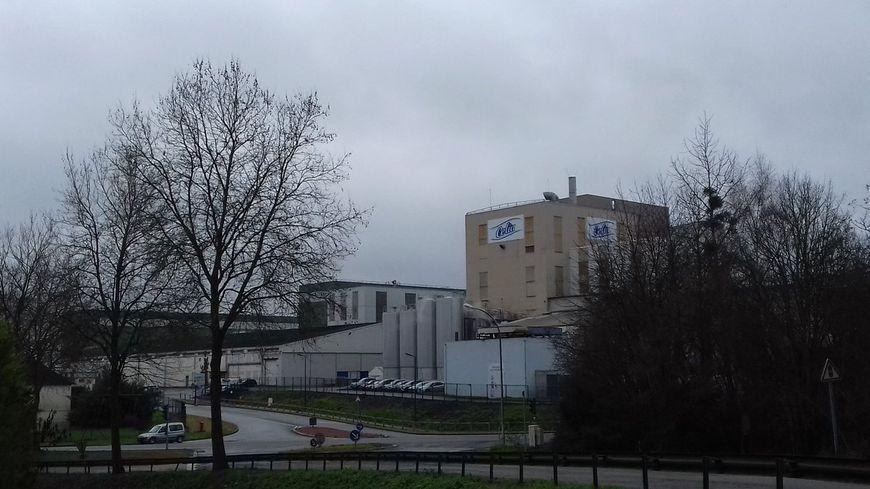 L'usine Lactalis à Craon