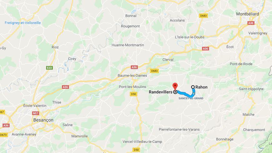 Quatre secousses d'une magnitude inférieure à 3 se sont produites dans le secteur de Randevillers / Rahon, entre Besançon et Montbéliard