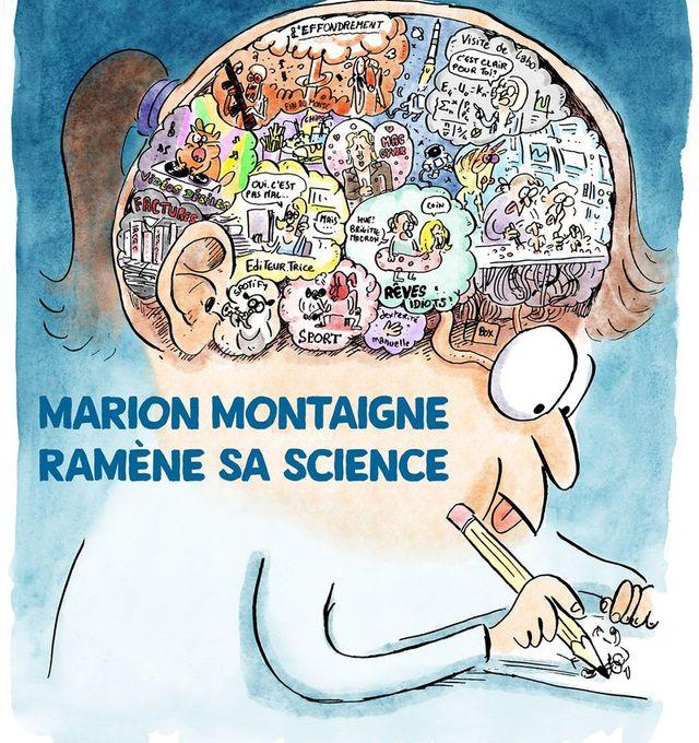 Détail de l'affiche de l'exposition Marion Montaigne ramène sa science au Festival d'Angoulême 2018