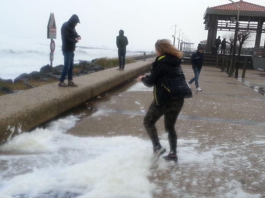 Les vagues sur le littoral Angloye