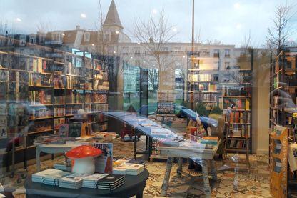 La librairie de Bondy, vue depuis l'extérieur. La Seine-Saint-Denis compte seulement 15 librairies pour 1,5 million d'habitants. Un taux tristement record en France.