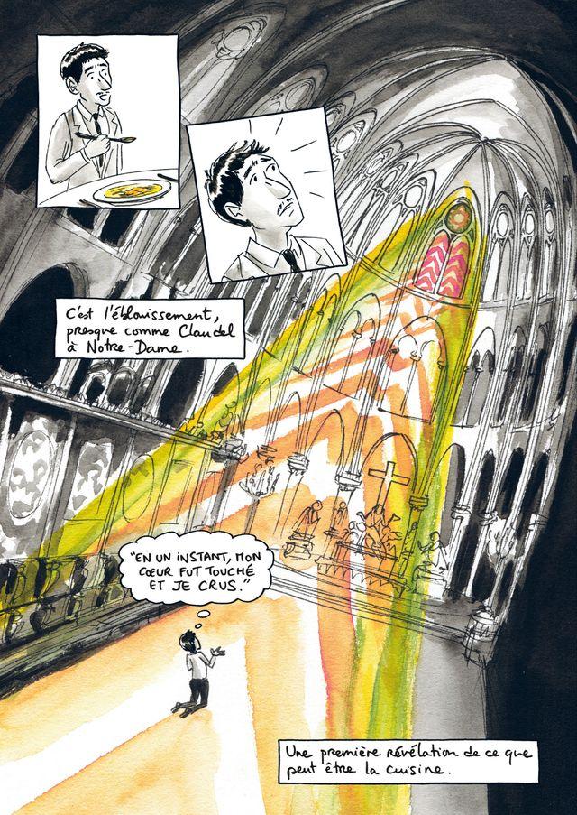 """Planche de """"Comme un chef"""" de Benoît Peeters et Aurélia Aurita"""