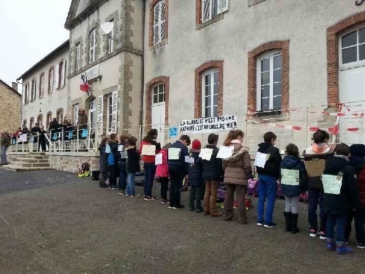 Les enfants, aussi, se sont mobilisés à Meilhards