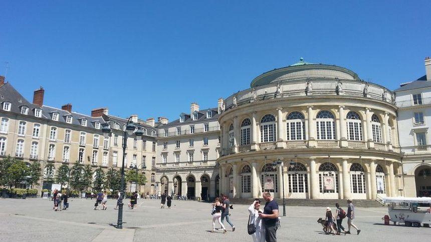 Grosse chaleur à Rennes