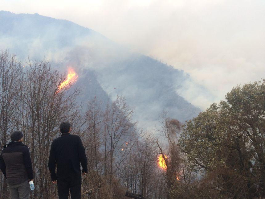 Le feu se dirige vers Cervioni ce mercredi après-midi