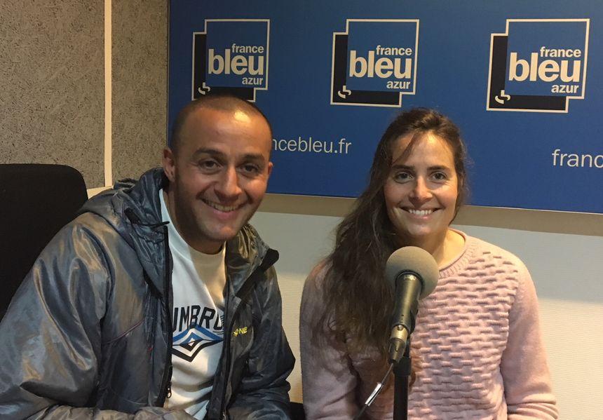 Noël Smara, président de l'association Exploits Sans Frontière et Camille Audibert.