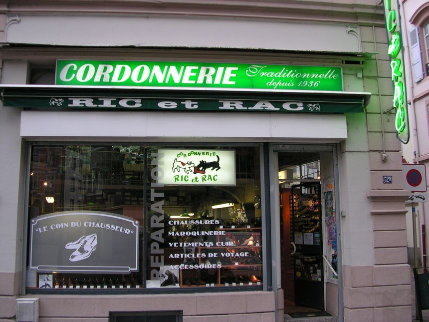 Depuis 1936 la cordonnerie Ric et Rac tenue par des passionnés.