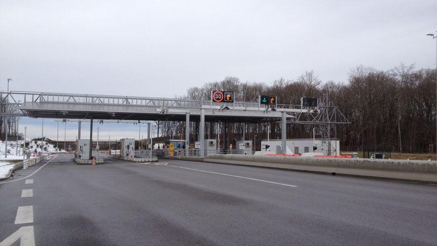 La barrière de péage de Vichy-Bellerive sur l'A 719