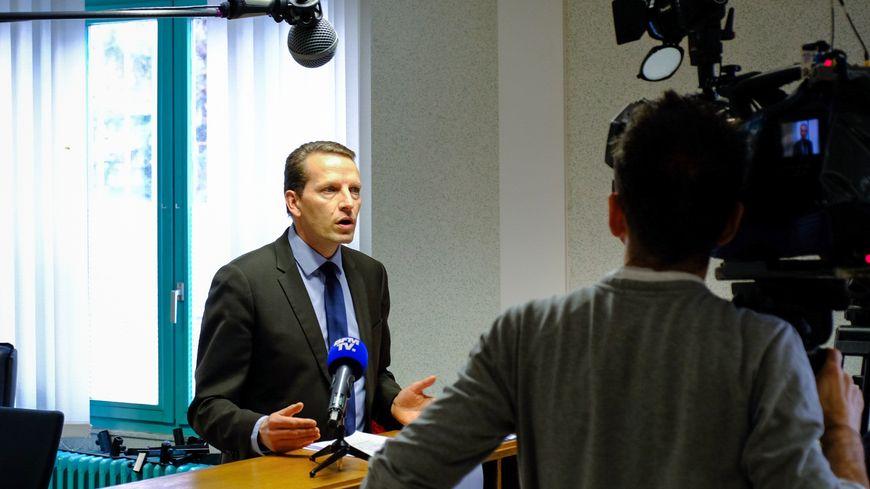 Conférence de presse du procureur de Vesoul Emmanuel DUPIC