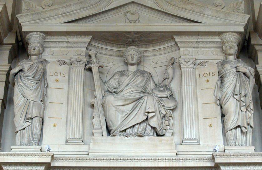 Allégorie de la Justice et du Droit, Cour d'Assises de Paris