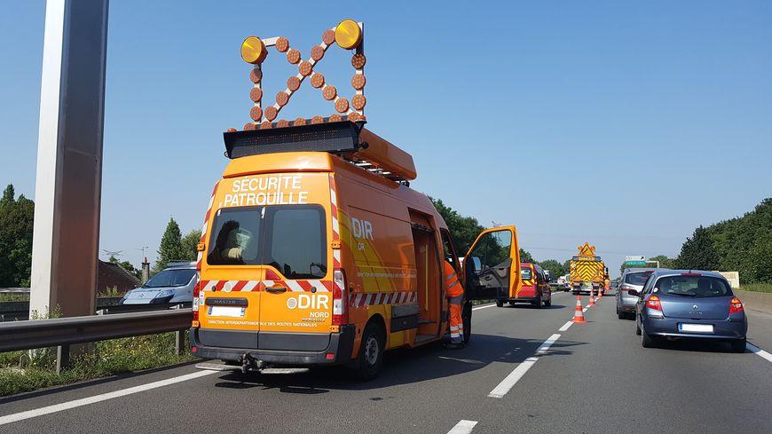 Une camionnette de la Direction Interrégionale des Routes