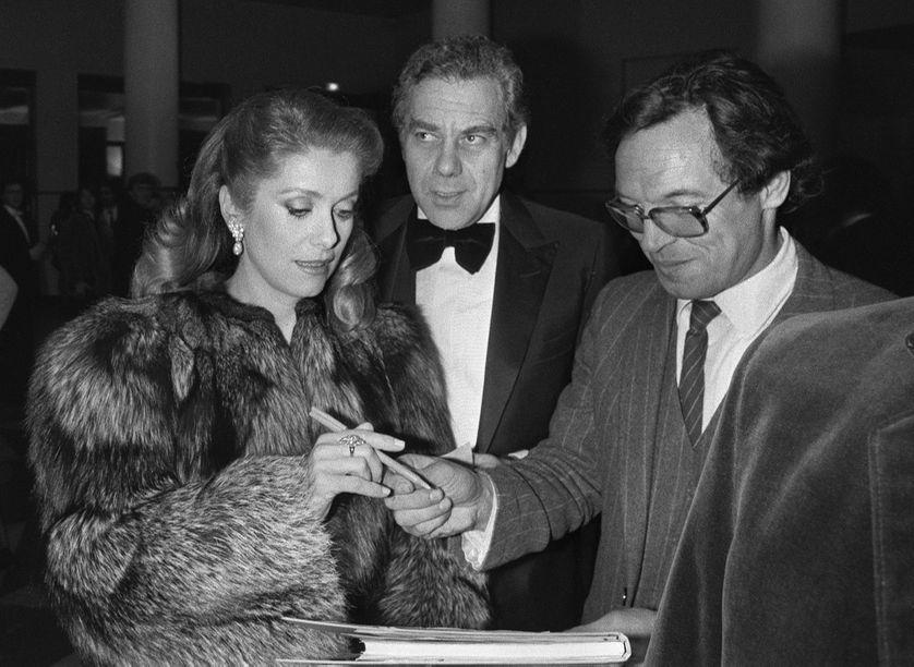 Catherine Deneuve avec Gérard Lebovici, une des rares photos du producteur 27 février 1982